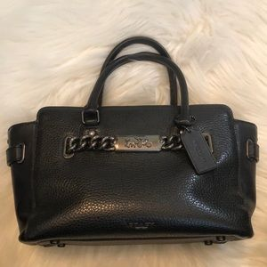 Coach black pebble leather shoulder/ hand bag